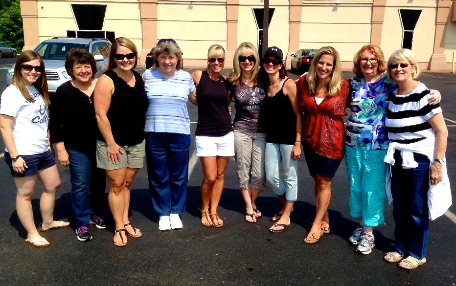 The Stripped Free Back To School Volunteer Crew - So Grateful For These Ladies!